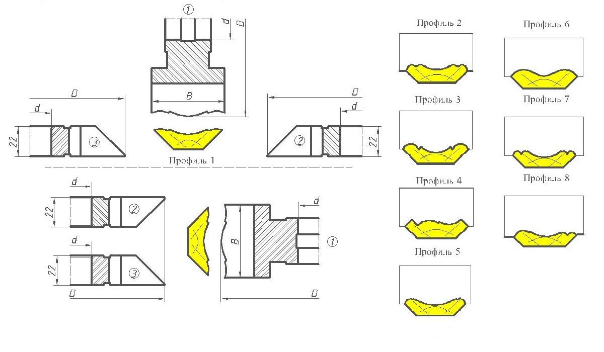 Фрезы для изготовления реечного плинтуса