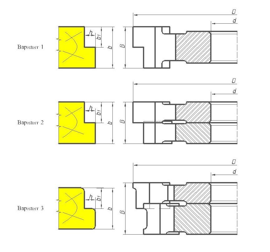 Фрезы для обработки четвертей ди11-02