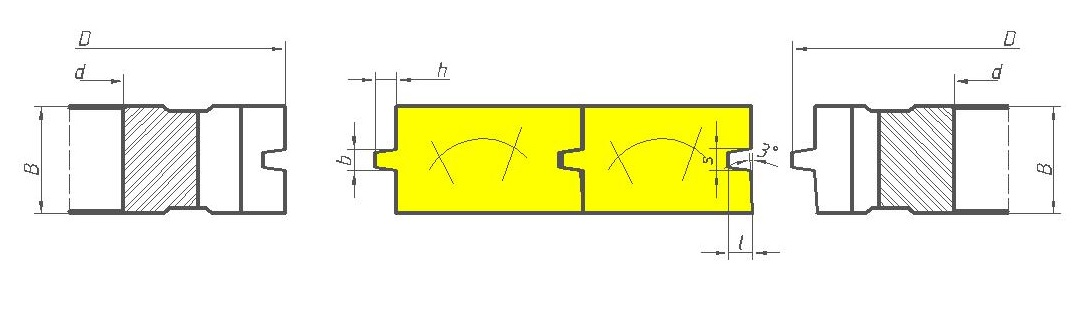 Фрезы для половой доски с трапецеидальным соединением ди12-21
