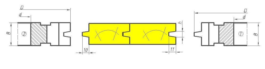 Фрезы для половой доски с трапециидальным соединением ди 12-10