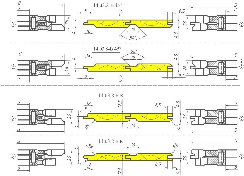 Фрезы для вагонки ди 14-03-08