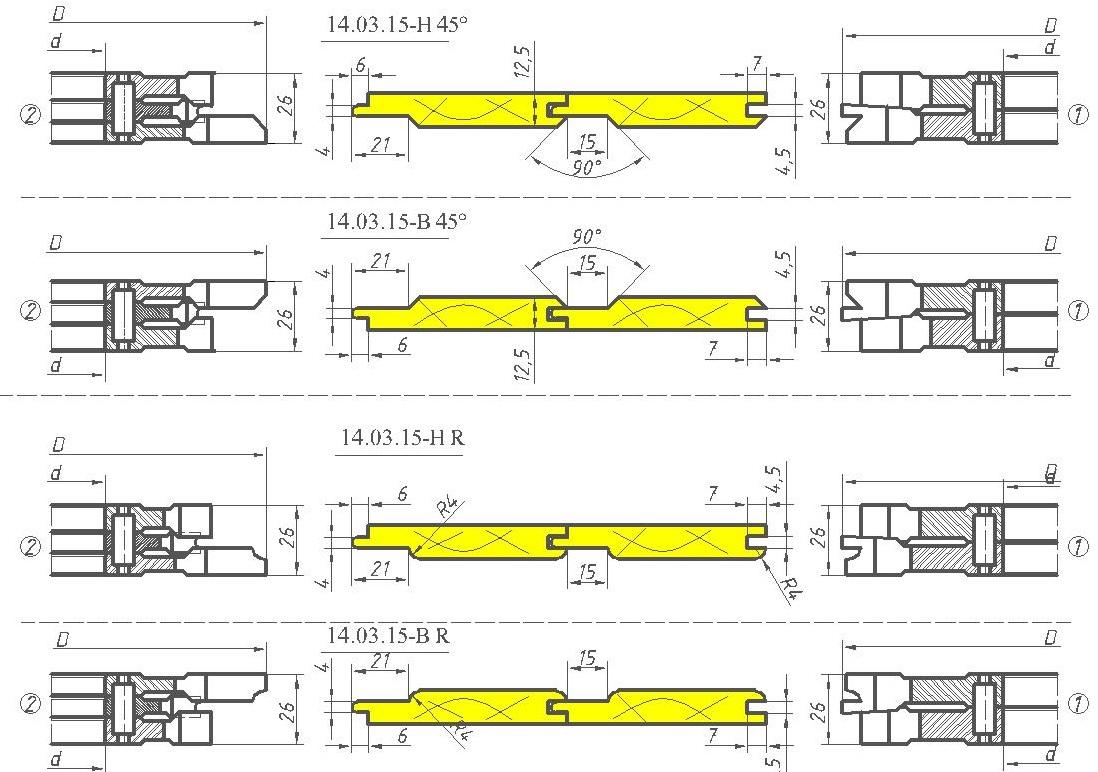 Фрезы для вагонки ди 14-03-15