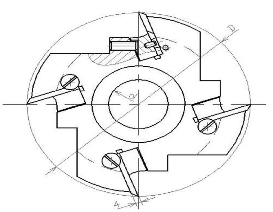 Фрезы сборные для изготовления реечного плинтуса ДИ-61