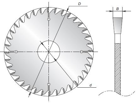 Схема пильных дисков ПД01