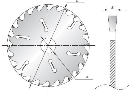 Схема пильного диска ПД02