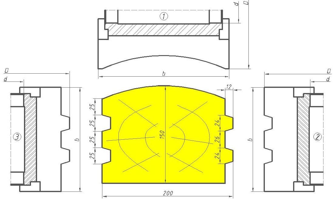 Фрезы для изготовления стенового бруса ДИ-41