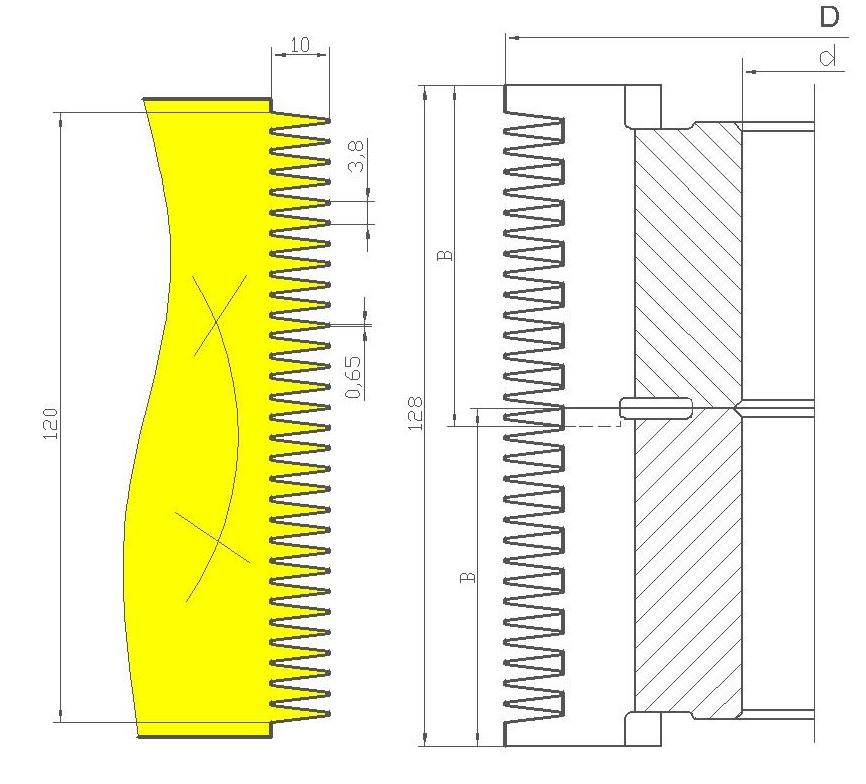 Фрезы для обработки шипов сращивания древесины ди-15.02