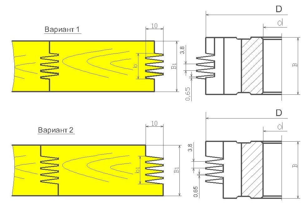Фрезы для обработки шипов сращивания древесины ди-15.03