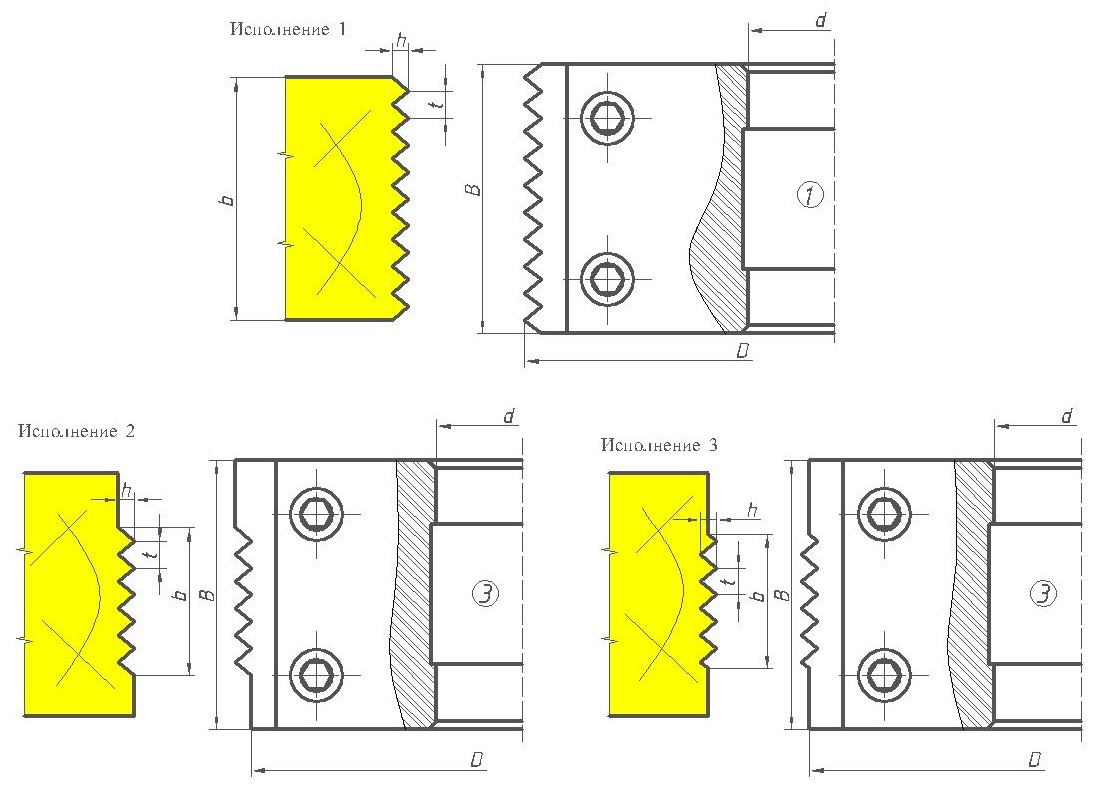 Фрезы сборные для сращивания древесины ДИ-15.01сб микрошип