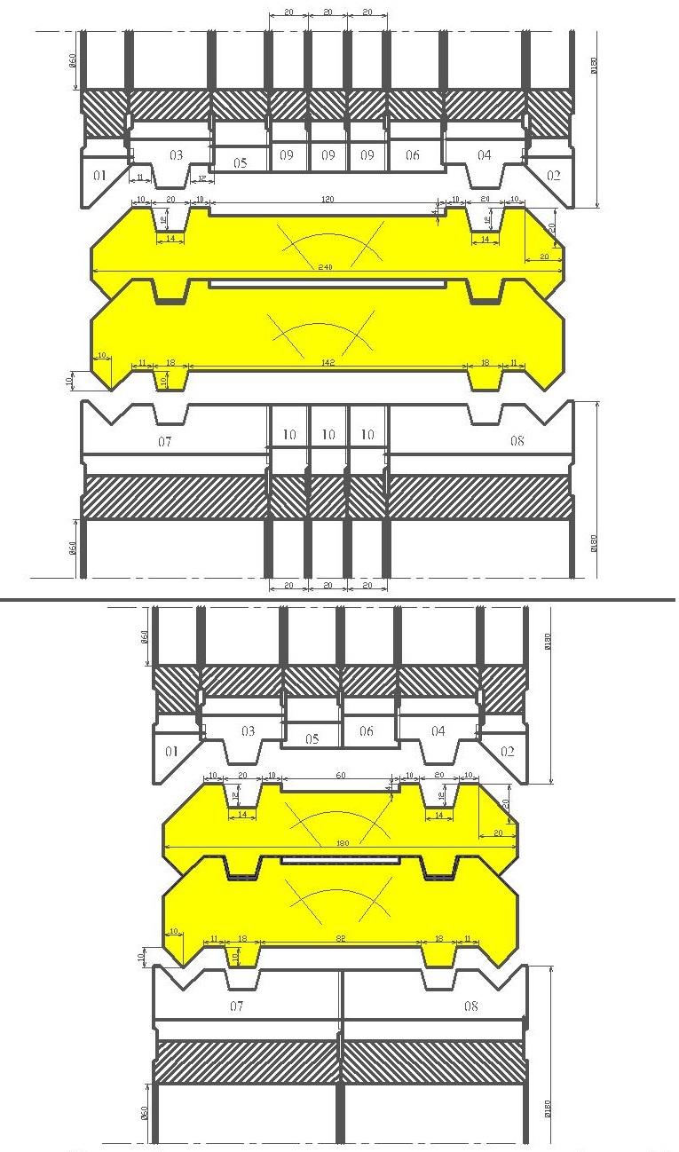 Фрезы для стенового бруса ди-43