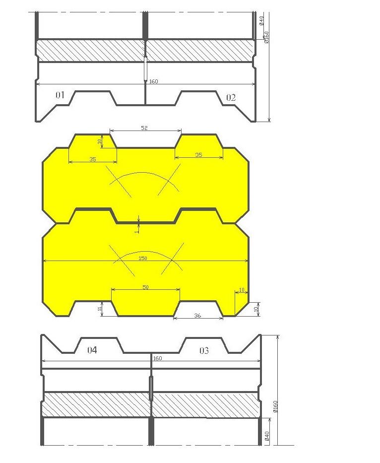 Фрезы для стенового бруса ди-48